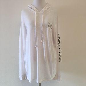 Vineyard Vines Long Sleeve Hoodie Shirt Size L